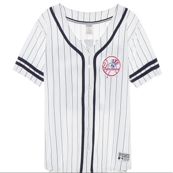best service c027a 44a37 NWOT VS PINK NY Yankees MLB baseball jersey